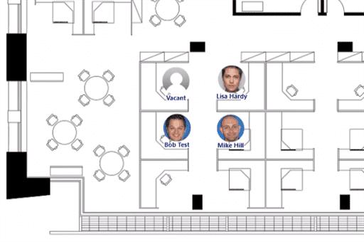Employee Photos on a floor plan