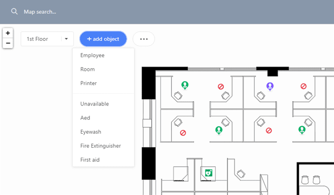 Add Icons or symbols to floor plans