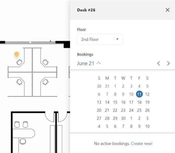Create a new desk booking